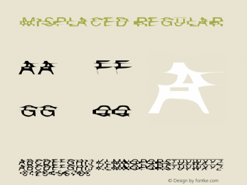 Misplaced Regular The Version Of The Lost. Font Sample