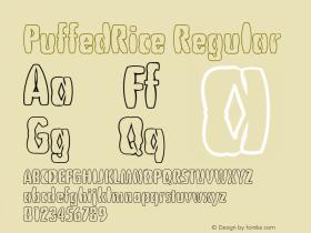 PuffedRice Regular 1.0 of this puffy type font Font Sample