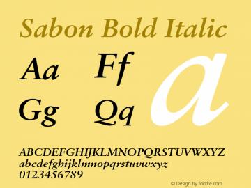 Sabon-BoldItalic 001.001图片样张