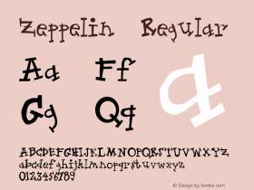 Zeppelin Regular Macromedia Fontographer 4.1 1997-10-02 Font Sample