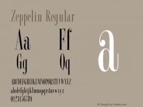 Zeppelin Regular 001.001 Font Sample