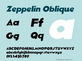 Zeppelin Oblique 1.0 Sun Sep 18 09:24:44 1994 Font Sample