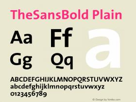 TheSansBold-Plain 001.100图片样张