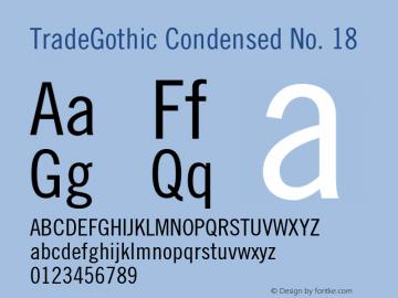 TradeGothic-CondEighteen 002.000图片样张