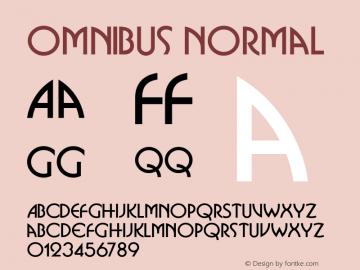 Omnibus Normal 1.000 Font Sample