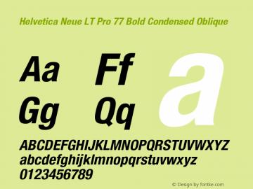 HelveticaNeueLTPro-BdCnO Version 1.500;PS 001.005;hotconv 1.0.38图片样张