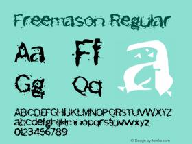 Freemason Regular Version 1.50 Font Sample
