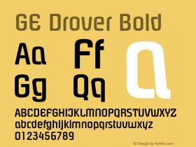 GE Drover Bold Version 1.0 Font Sample