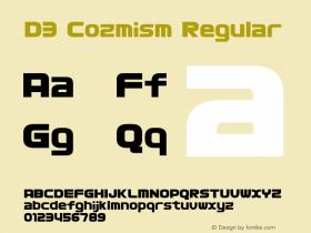 D3 Cozmism Regular 1.0 Font Sample