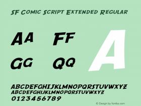 SF Comic Script Extended Regular Version 1.1 Font Sample