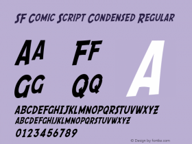 SF Comic Script Condensed Regular Version 1.1 Font Sample