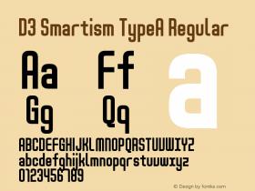 D3 Smartism TypeA Regular 1.0 Font Sample