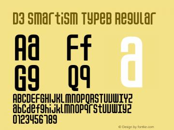D3 Smartism TypeB Regular 1.0 Font Sample