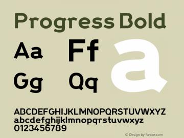 Progress Bold Macromedia Fontographer 4.1.5 5/21/04图片样张