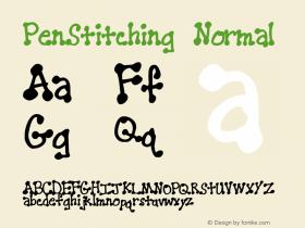 PenStitching Normal Macromedia Fontographer 4.1 10/3/98 Font Sample