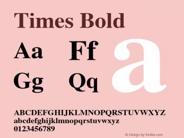Times Bold 1.0图片样张