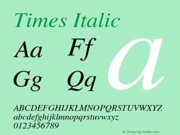 Times Italic 1.0图片样张