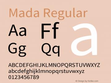 Mada Regular Version 1.004图片样张
