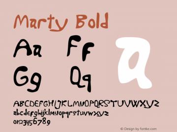 Marty Bold 001.000 Font Sample