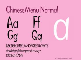 ChineseMenu Normal 1.000 Font Sample