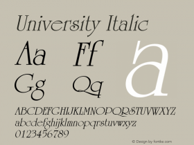 University Italic Altsys Metamorphosis:12/21/95图片样张