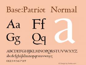 Base:Patriot Normal 1.0 Tue Oct 03 15:28:09 1995 Font Sample