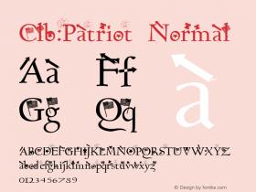 Clb:Patriot Normal 1.0 Tue Oct 03 15:34:17 1995 Font Sample