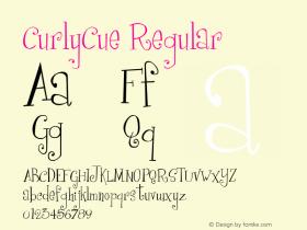 CurlyCue Regular 1998; 0.0, initial release Font Sample