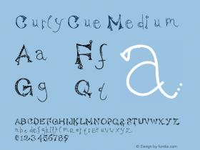 CurlyCue Medium Version 001.000 Font Sample