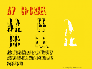 AZ crushed CMAZ V1.0 16:50 (CET) oct.03,1997 Font Sample