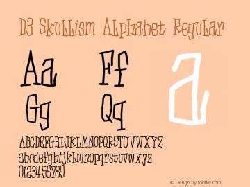 D3 Skullism Alphabet Regular 1.0 Font Sample
