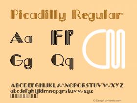 Picadilly Regular Macromedia Fontographer 4.1.4 5/13/98 Font Sample