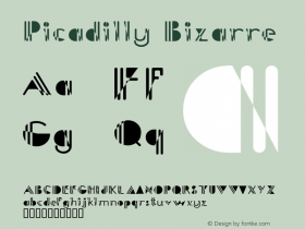 Picadilly Bizarre Macromedia Fontographer 4.1.4 5/13/98 Font Sample