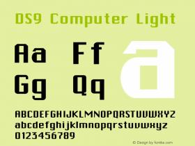 DS9 Computer Light 1.0 Font Sample