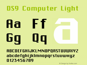 DS9 Computer Light 1.0 Font Sample