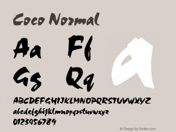 Coco Normal 1.0 Sun Oct 03 18:13:15 1993 Font Sample