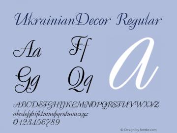 UkrainianDecor Regular 001.000 Font Sample