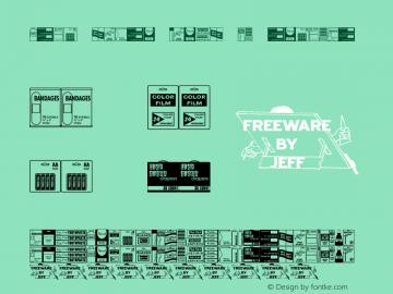 Drug Store Items JL Regular Version 1.00 Font Sample