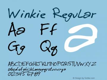 Winkie Regular 1998; 1.0, initial release Font Sample