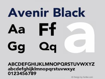 Avenir Black 8.0d5e4图片样张
