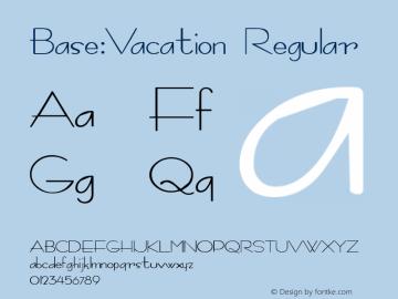 Base:Vacation Regular 1.0 Wed Oct 04 09:13:05 1995 Font Sample