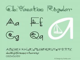 Clb:Vacation Regular 1.0 Wed Oct 04 09:14:47 1995 Font Sample