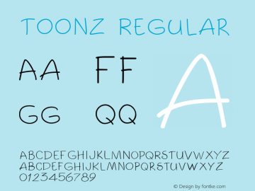 Toonz Regular Altsys Metamorphosis:1/14/94 Font Sample