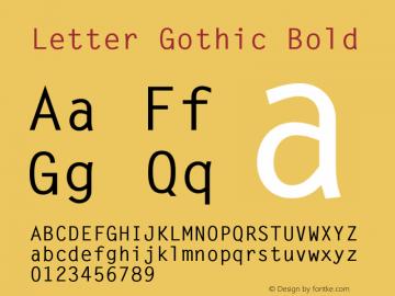 LetterGothic-Bold 001.003图片样张