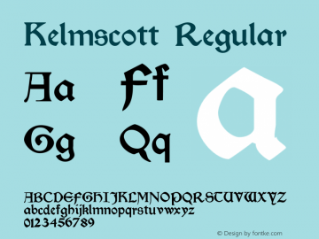 Kelmscott 001.000图片样张