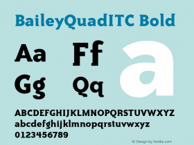 BaileyQuadITC Bold Version 1.00 Font Sample