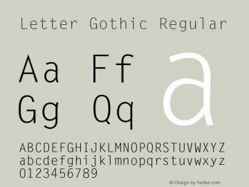LetterGothic 001.001图片样张