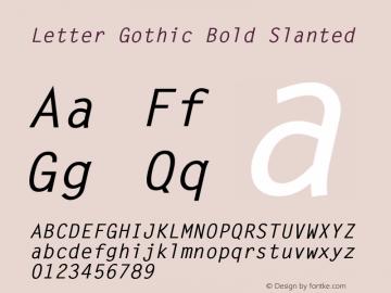 LetterGothic-BoldSlanted 001.002图片样张
