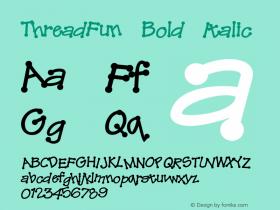 ThreadFun-BoldItalic 001.000图片样张