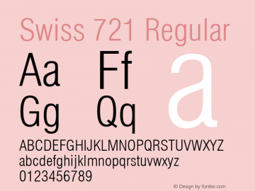 Swiss 721 Light Condensed Version 2.0-1.0图片样张